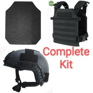 10×12 AR500 Body Armor with Sentry Vest and Helmet combo